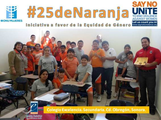 Taller #25deNaranja en Secundaria de Colegio Excelencia.