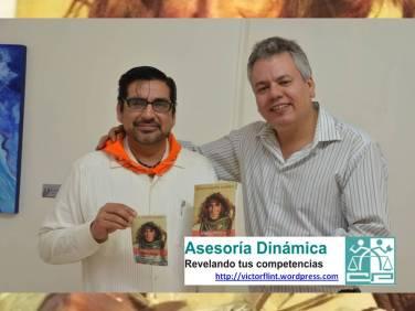 Víctor Flint con Jesús Huerta Suárez autor de Viento Negro y Otros Relatos.
