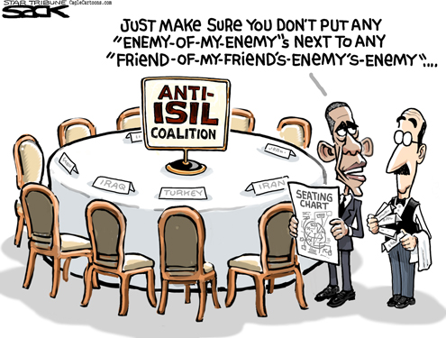 Sack cartoon: Obama's Islamic State strategy