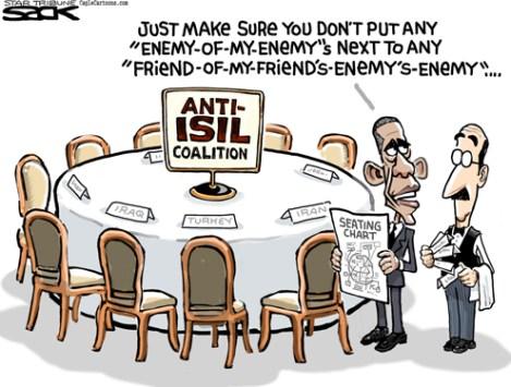 Sack cartoon: Obama's Islamic State strategy