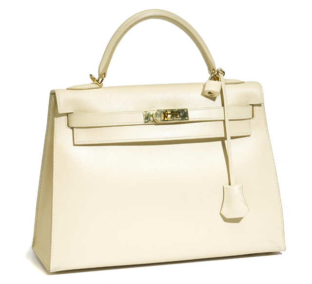 Hermes Ivory Leather Kelly Bag