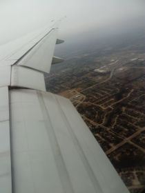 Flying into Dallas