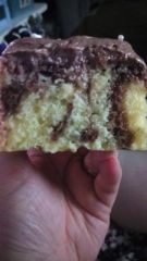 Marble Cake with Chocolate Buttercream Icing #GlutenFree