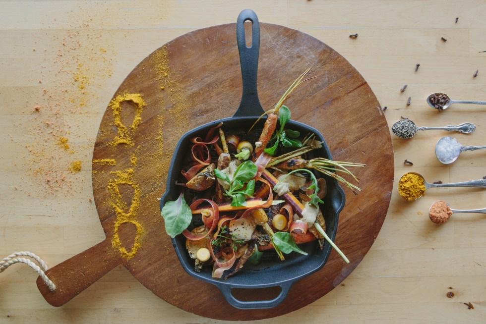 Cast Iron Tandoori Carrots