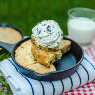 Mini Cast Iron Skillet Personal Chocolate Chip Cookie Dessert