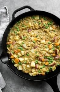 Cast Iron Vegetarian Lentil Pot Pie - Victoria Cast Iron Skillets