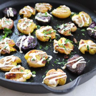 Cast Iron Smashed Potatoes Recipe
