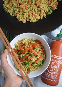 Vegetable Fried Rice by @TheNutritiousPrincess