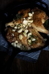 Easy Cast Iron Skillet Chicken with Garlic