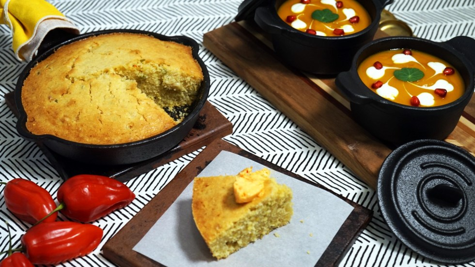 Cornbread and Ají Dulce Butter by @iambananista