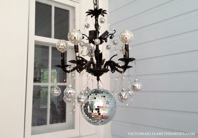 Diy Chandelier And Front Porch Decorations