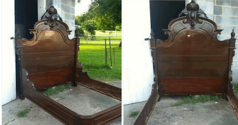 how to make an antique full size bed
