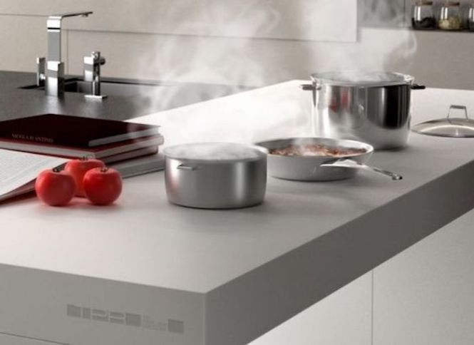 Induction Countertop Invisible Burners