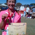 Coming in as 10th woman in the Victoria Falls Marathon