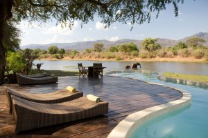 The Pool at the Chongwe River House