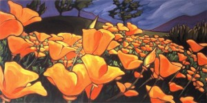 Amongst the Poppies 60x30