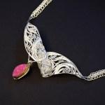 In Aria, Russian filigree and Vertebrate chain necklace