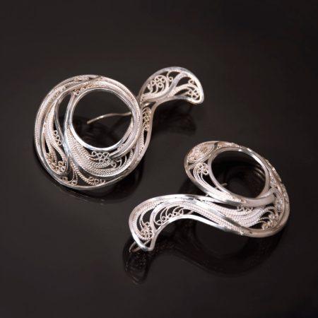 Encompass II, Russian filigree earrings
