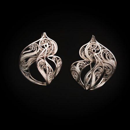 Spellbound , Russian filigree earrings