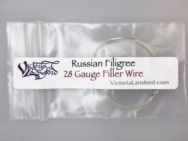 28 gauge Russian Filigree Filler Wire