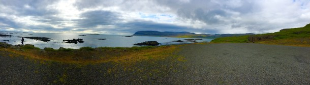 A coastal panorama in the West Fjords.