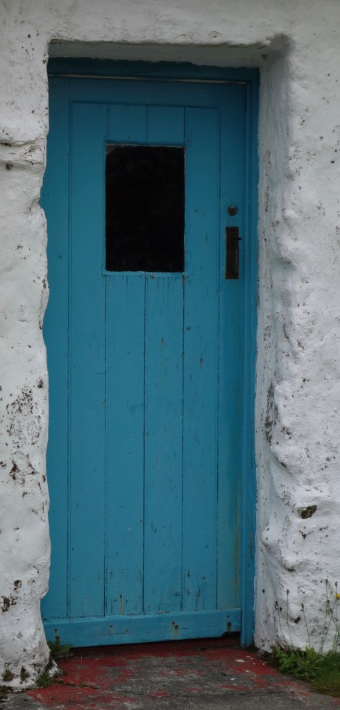 Cottage door in Glencolmcille, County Donegal.