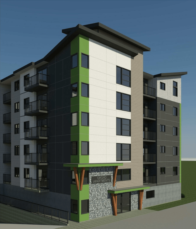 Orono at Jacklin Assembly, Rezone, Develop 120 Strata Units