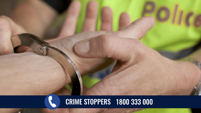 police crime stoppers handcuffs