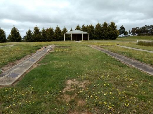 lawn cemetery area