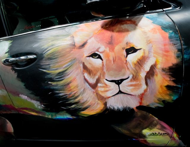 Painted car