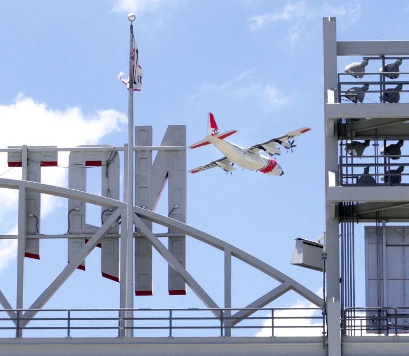 Coast Guard aviation centennial commemorative flyover