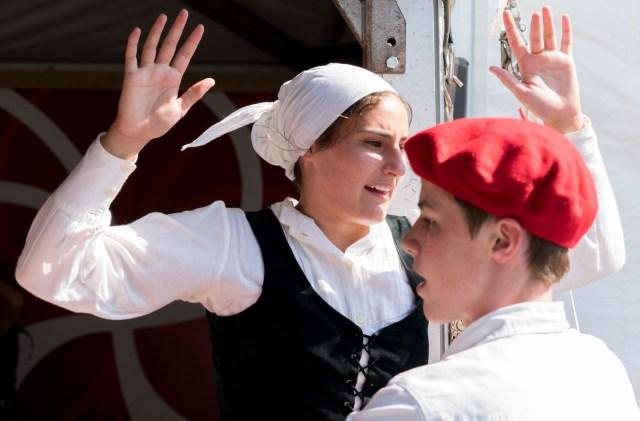 Basque dancing.