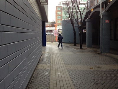 emerging potential: after demolition of original building, sightlines open up