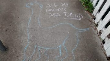 Chalk, Dinosaurs, Tic-Tac-Toe, Bullseye's oh my!