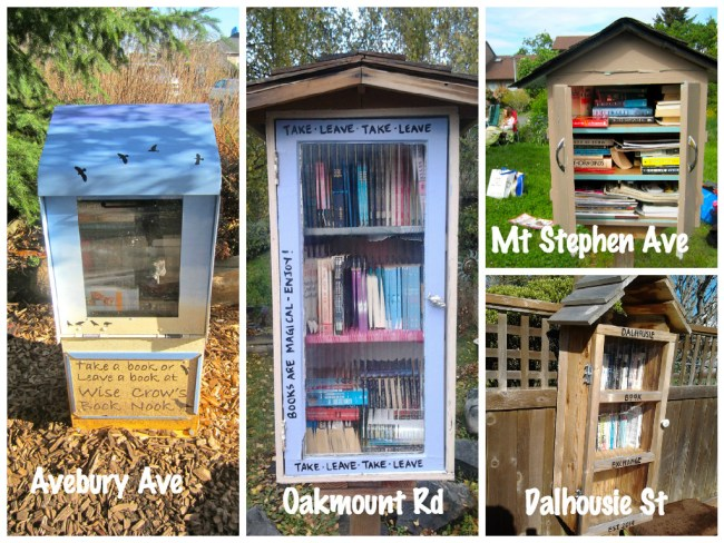 Some of Greater Victoria's book boxes