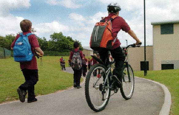 school bikeped