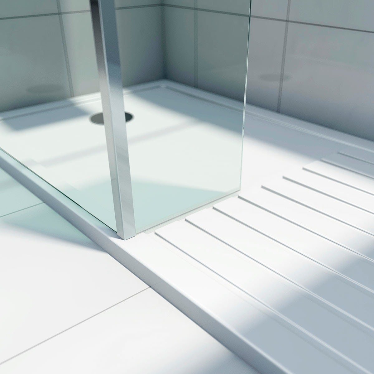1400mm Pivot Hinge Shower Door 6mm Thick Glass Screen
