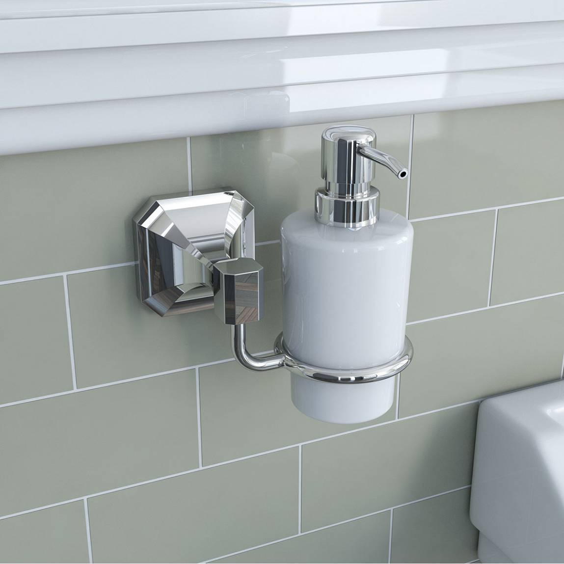 style art deco bathroom on a budget