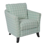 Accent Chair Faded Green Angled Kaleidoscope Fabric