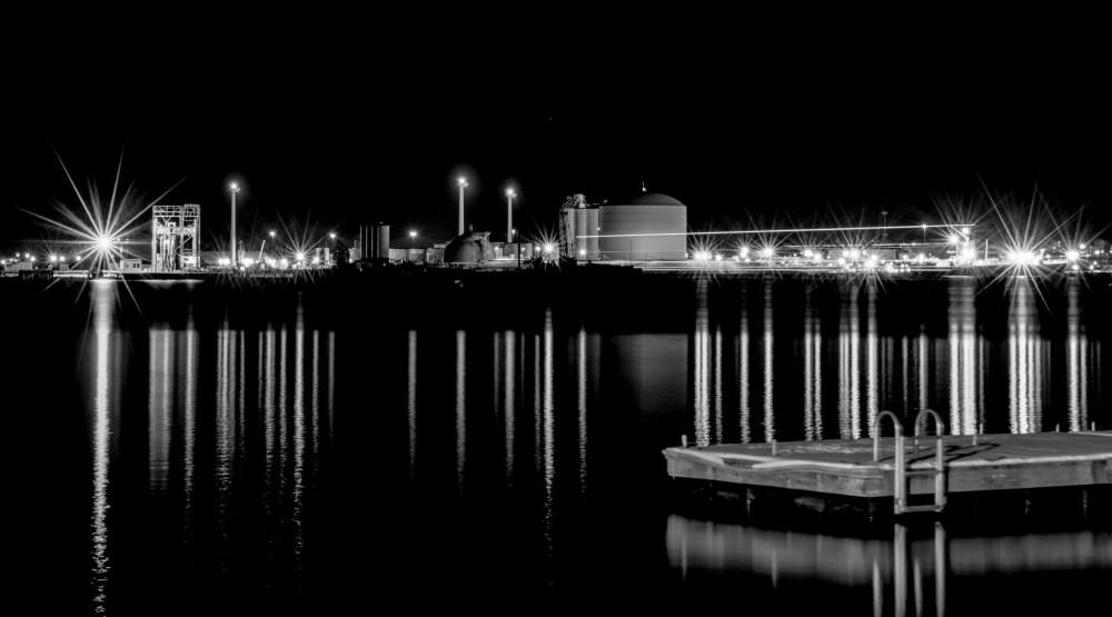 Providence River at Night