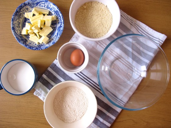 German Cheesecake ingredients