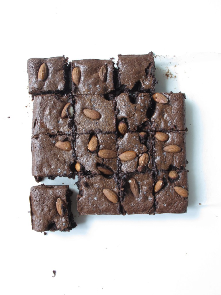 Salted Almond Brownies (gluten free)