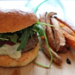 Brioche Burger Buns with Cranberry Rocket Cheeseburgers
