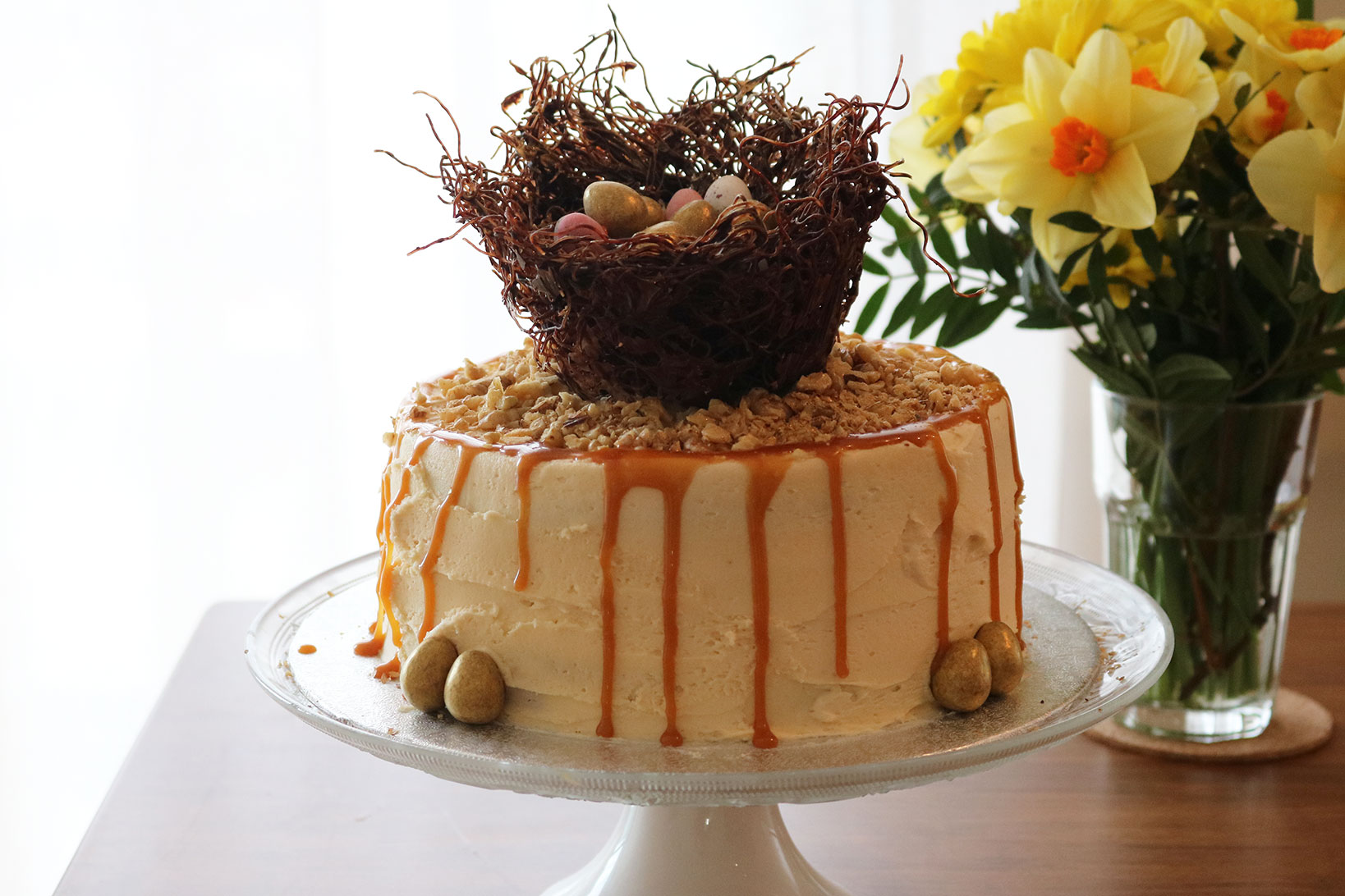 Salted Caramel Chocolate Easter Nest Cake