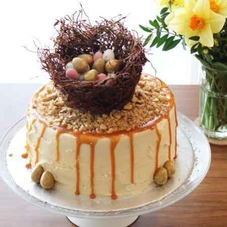 Salted Caramel Chocolate Easter Nest Cake
