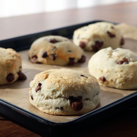 Milk Chocolate Chip Vanilla Scones