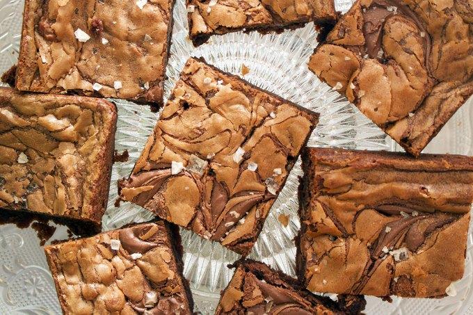 Smoked Salt and Nutella Birthday Brownies