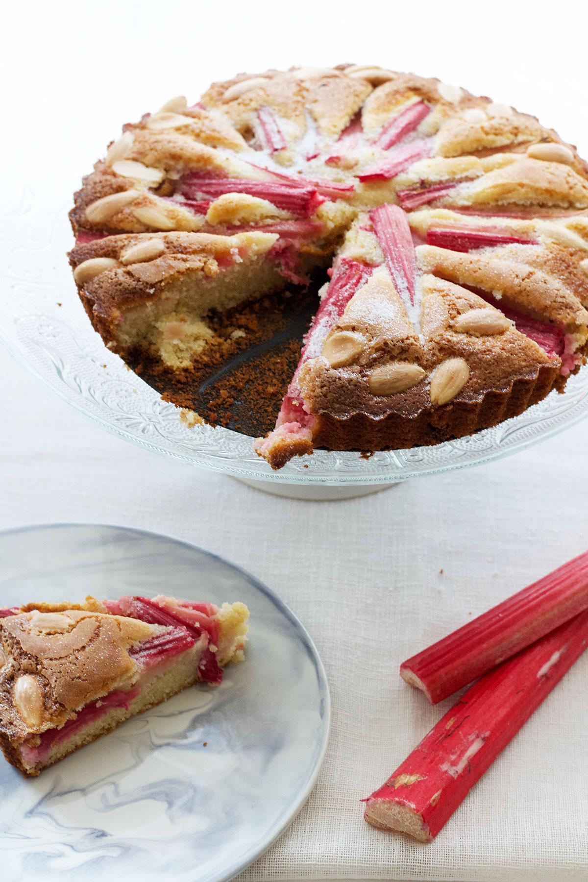 Gluten Free Rhubarb and Almond Cake