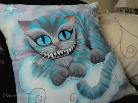 Handpainted Cushion Commissions - Contact Enquiries@VictoriaThorpe.co.uk