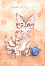 Original Tea & Watercolour Painting Available. Contact Enquiries@VictoriaThorpe.co.uk